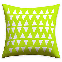 Deny Designs Leah Flores Pineapple Dreams Throw Pillow in Green