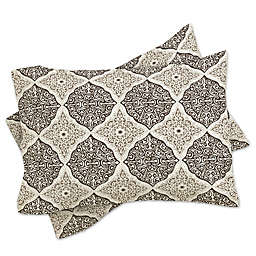 Deny Designs Belle13 Curly Rhombus Standard Pillow Sham in Beige