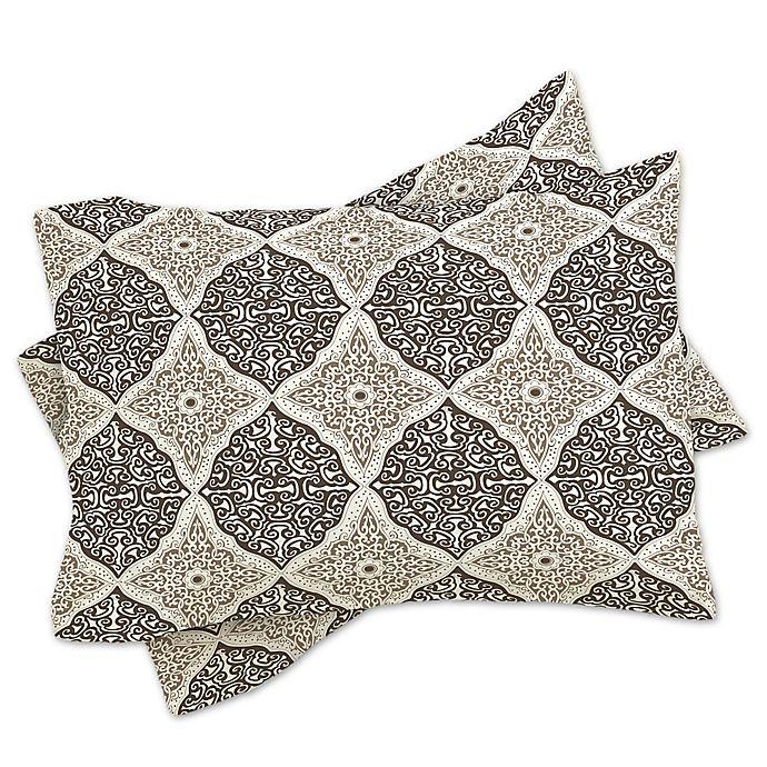 Alternate image 1 for Deny Designs Belle13 Curly Rhombus King Pillow Shams in Beige (Set of 2)
