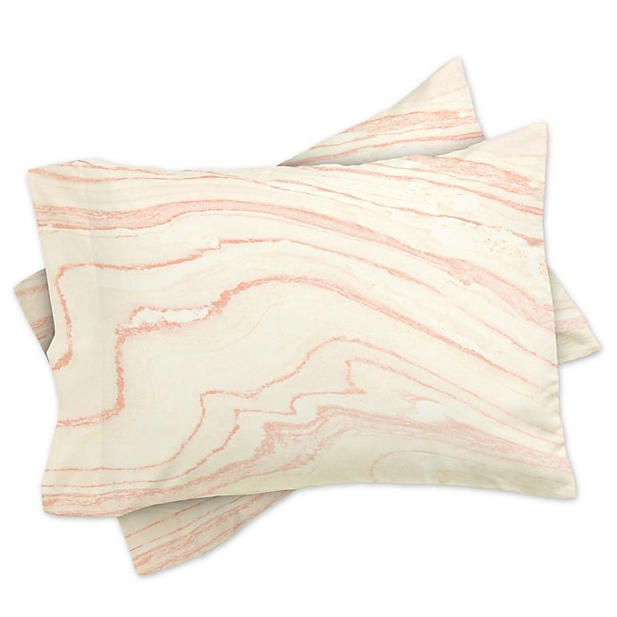 Alternate image 1 for Deny Designs Rebecca Allen Blush Marble Pillowcases in Pink (Set of 2)