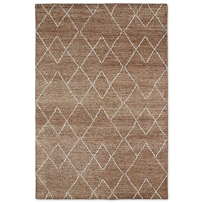 Alternate image 1 for Kaleen Solitaire Diamonds 5-Foot x 7-Foot 9-Inch Area Rug in Brown