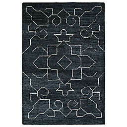 Kaleen Solitaire Graphics Rug in Charcoal