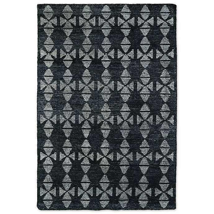 Alternate image 1 for Kaleen Solitaire Tribal 5-Foot x 7-Foot 9-Inch Area Rug in Charcoal