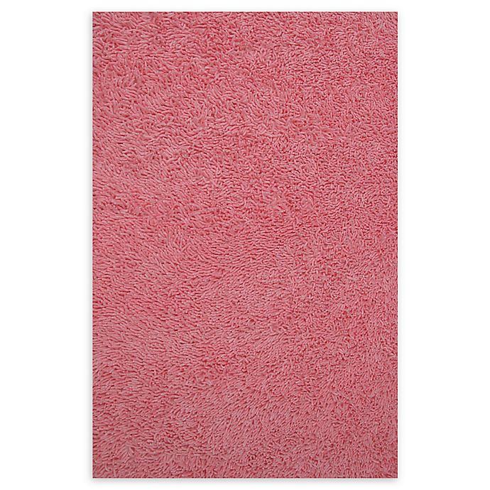 Alternate image 1 for Fun Rugs™ 3-Foot 3-Inch x 4-Foot 10-Inch Chenille Cotton Shag Area Rug in Pink