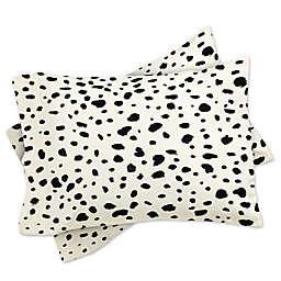 Deny Designs Rebecca Allen Miss Monroes Dalmatian Pillow Shams (Set of 2)