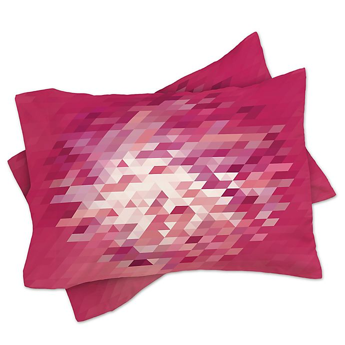 Alternate image 1 for Deny Designs Deniz Ercelebi Cluster 3 King Pillow Shams in Pink (Set of 2)