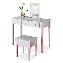 Teamson Fantasy Fields Bouquet Vanity Table and Stool Set