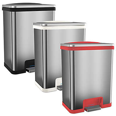 halo™ TapCan Effortless Stainless Steel 49-Liter Trash Can