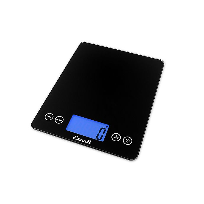 Alternate image 1 for Escali® Arti XL Glass Digital Kitchen Scale in Black