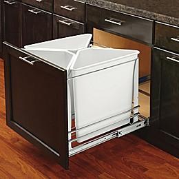 Rev-A-Shelf - 5BBSC-WMDM24-W - White Three Bin Recycling Center with Soft-Close Slides
