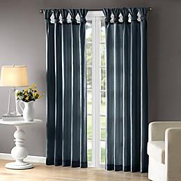 Madison Park Emilia Room-Darkening Tab Top Window Curtain Panel in Teal