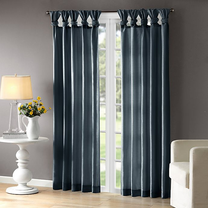 Alternate image 1 for Madison Park Emilia 84-Inch Twist Tab Top Window Curtain Panel in Teal