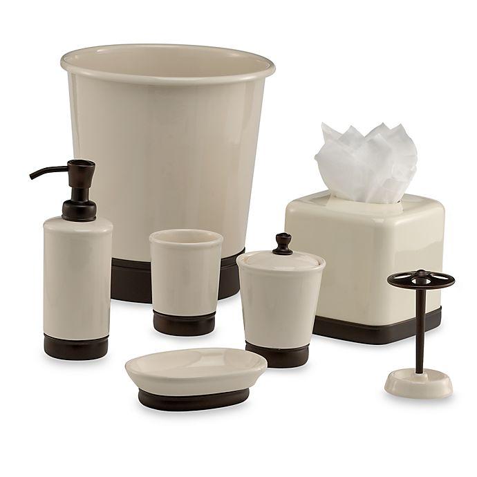 Alternate image 1 for iDesign® York Vanilla/Oil Rubbed Bronze Bath Ensemble