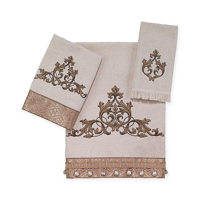 Alternate image 1 for Avanti Monaco Hand Towel in Ivory
