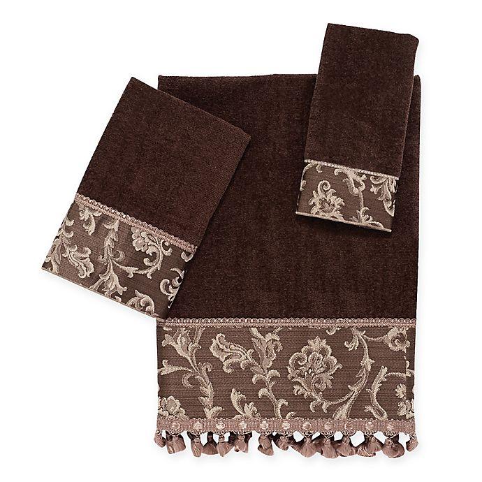 Alternate image 1 for Avanti Damask Fringe Bath Towel Collection in Mocha