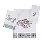 Avanti By The Sea Fingertip Towel in White