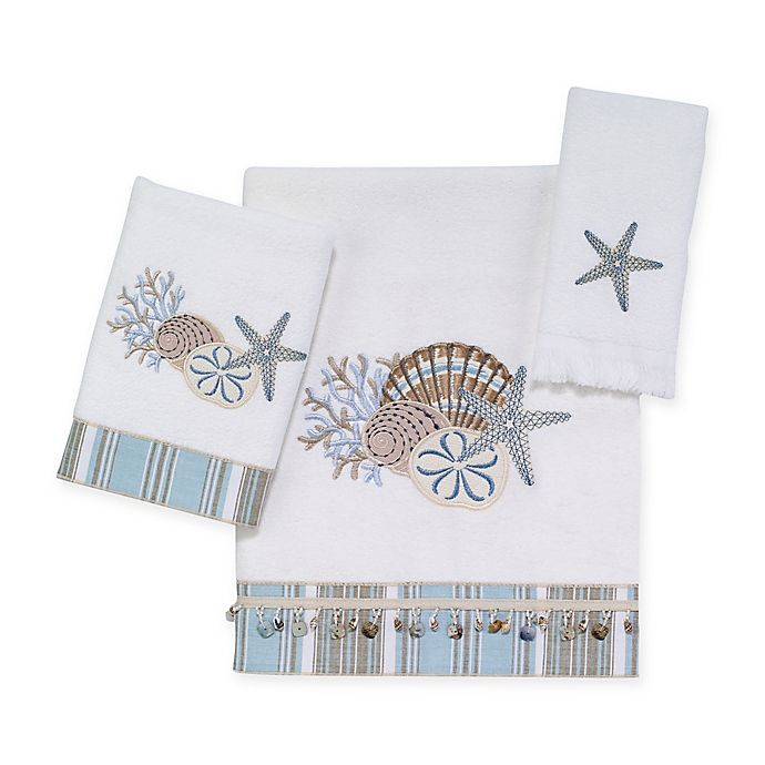 Alternate image 1 for Avanti By The Sea Bath Towel Collection in White