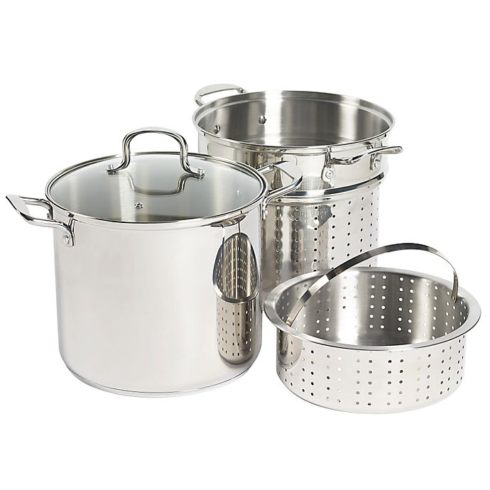 Alternate image 1 for SALT® Stainless Steel 4-Piece Multi-Cooker