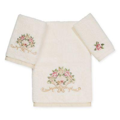 Avanti Linens Rosefan Bath Towel Ivory