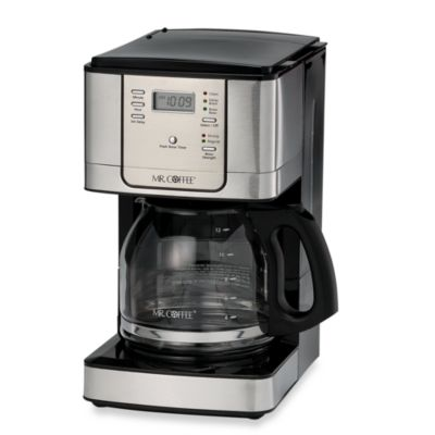 Mr Coffee Jwx Series 12 Cup Programmable Stainless Steel Maker Bed Bath Beyond