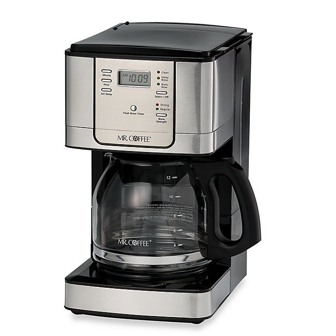 Alternate image 1 for Mr. Coffee® JWX Series 12-Cup Programmable Stainless Steel Coffee Maker