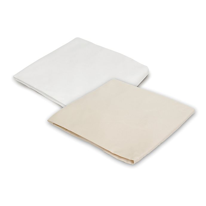 Alternate image 1 for Naturepedic® Organic Cotton Fitted Crib Sheet