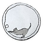 Cats Bath Rug in White/Grey