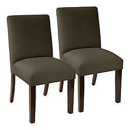Skyline Furniture Pierre Velvet Dining Chair (Set of 2)