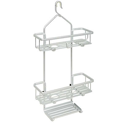 TITAN® NeverRust® Aluminum Slat Shower Caddy in Satin Chrome