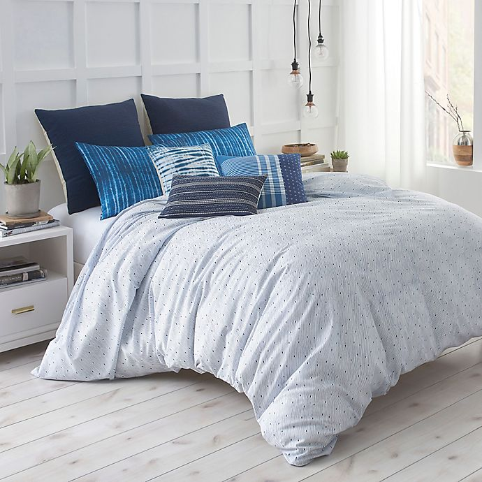 Alternate image 1 for Under the Canopy® Shibori Chic Comforter Set in Blue