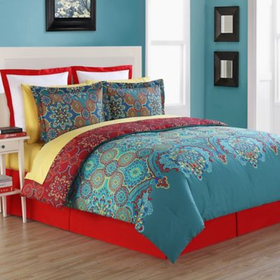 Fiesta® Terra Reversible Comforter Set in Blue  a19455c9df56