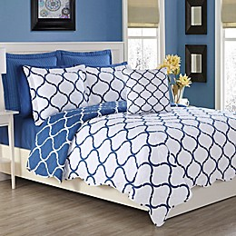 Fiesta® Villa Reversible Quilt Set in Lapis