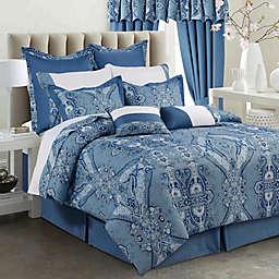 Tribeca Living Atlantis 12-Piece 300-Thread-Count Cotton Comforter Set in Blue