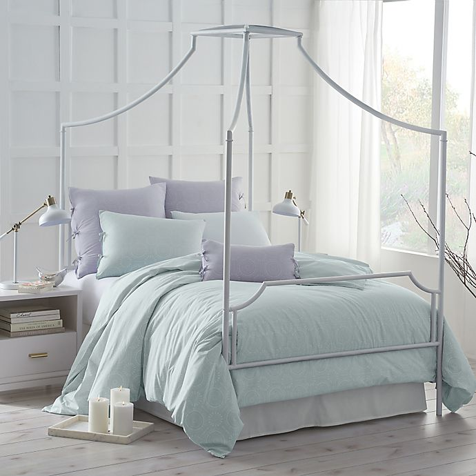 Alternate image 1 for Under the Canopy® Urban Edgelands Organic Cotton Twin Comforter Set in Sea Glass
