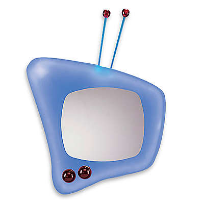 LumiSource Retro Television Wall Mirror in Blue