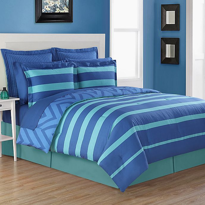 Alternate image 1 for Fiesta® Biscay Reversible Twin Comforter Set in Blue/Turquoise