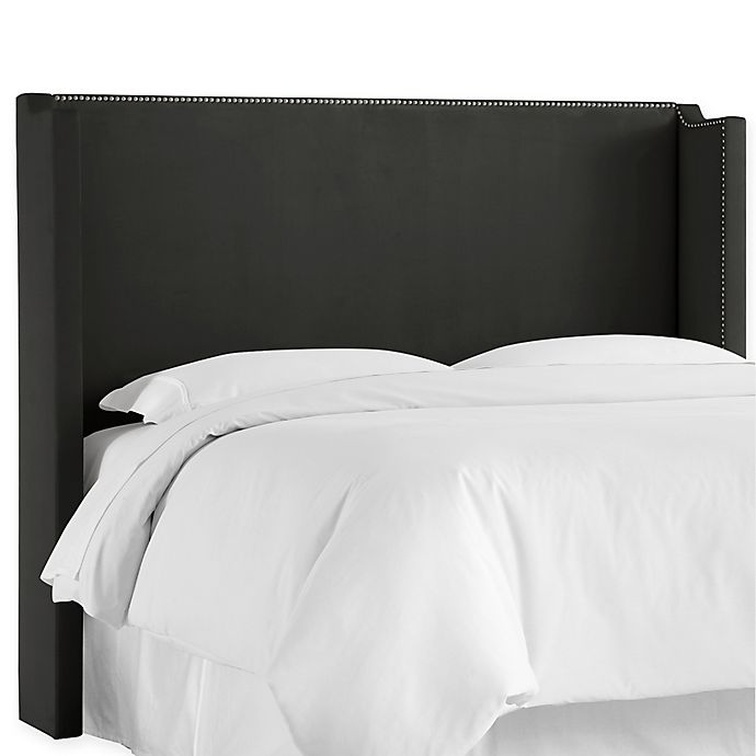 Alternate image 1 for Skyline Furniture Shiloh Wingback California King Headboard in Black
