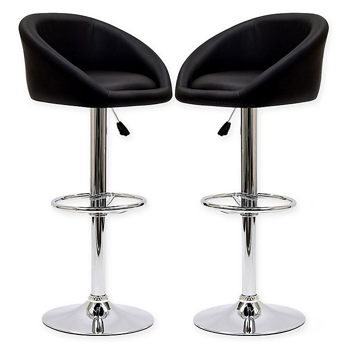 Modway Marshmallow Bar Stools In Black Set Of 2 Bed