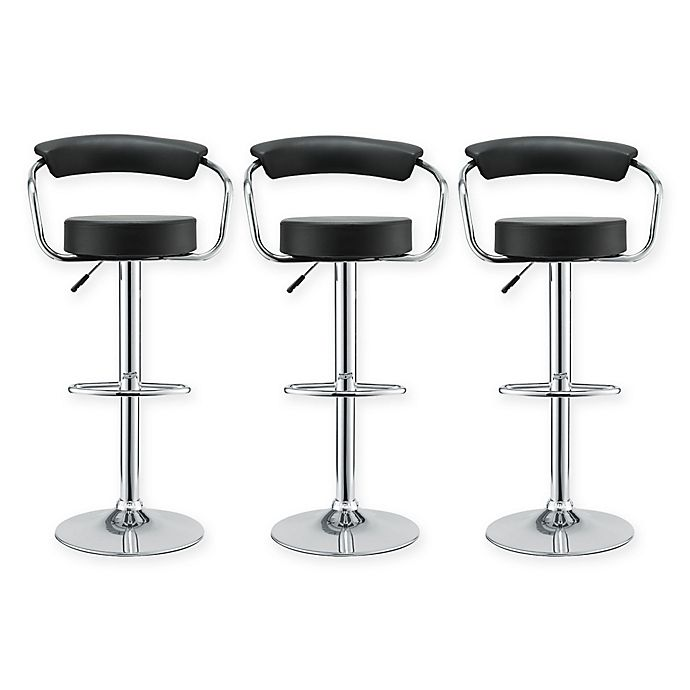 Buy Modway 1950s Diner Bar Stool In Black Set Of 3 From