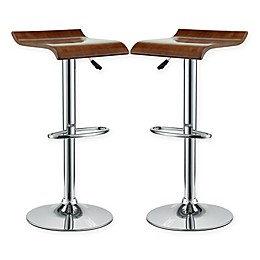 Modway Bentwood Bar Stool in Oak (Set of 2)