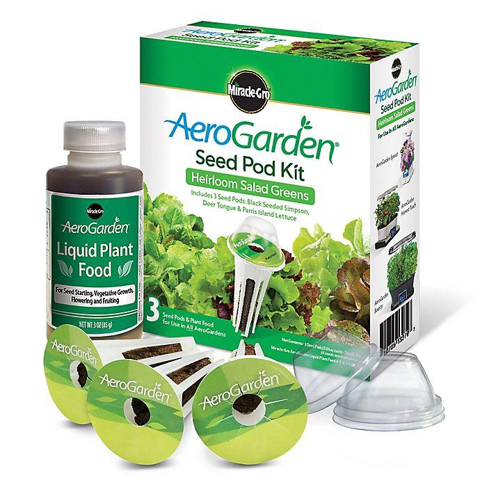 Alternate image 1 for Miracle-Gro® AeroGarden™ Heirloom Salad Greens Seeds 3-Pod Kit