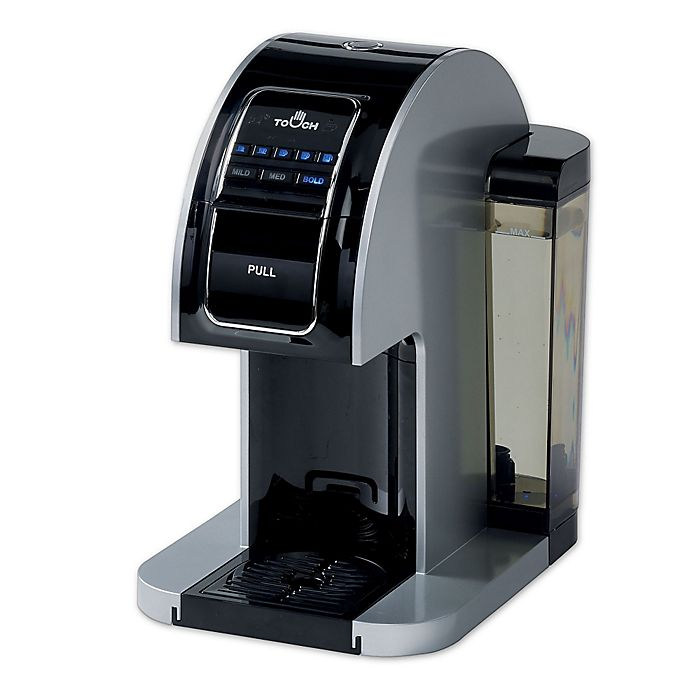 Alternate image 1 for Touch Choice™ Single Serve Coffee Brewer in Silver