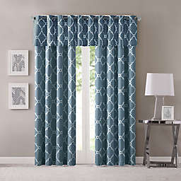 Madison Park Saratoga Grommet Top Window Curtain Panel and Window Valance