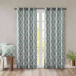 Madison Park Saratoga 95-Inch Grommet Top Window Curtain Panel in Seafoam (Single)