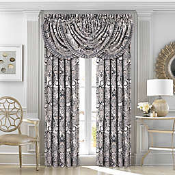 J. Queen New York Guiliana 84-Inch Window Curtain Panel Pair in Silver