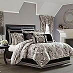 J. Queen New York Guiliana King Comforter Set in Silver