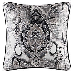 J. Queen New York Guiliana 20-Inch Square Throw Pillow in Silver