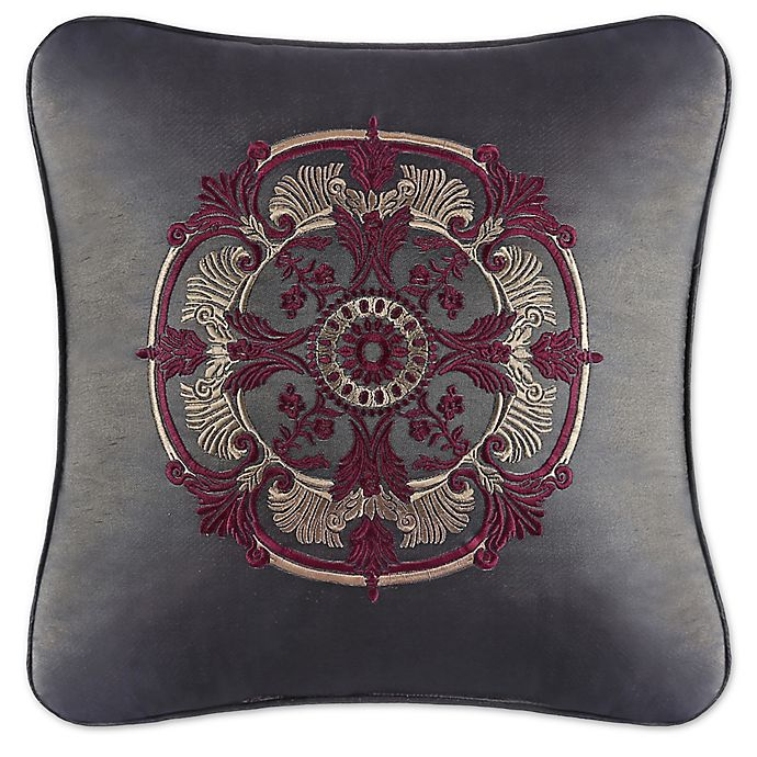 Alternate image 1 for J. Queen New York™ Bridgeport Embroidered Square Throw Pillow in Red