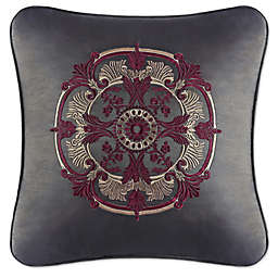 J. Queen New York™ Bridgeport Embroidered Square Throw Pillow in Red