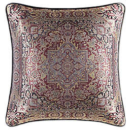 J. Queen New York™ Bridgeport Medallion Square Throw Pillow in Red